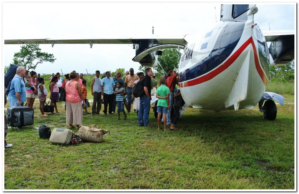 Door County Dentist Paul Feit and the airplane used to fly into Honduras